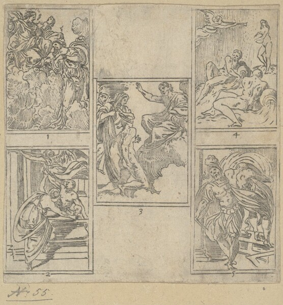 The Obsequies of  Agostino Carracci: Third Plate