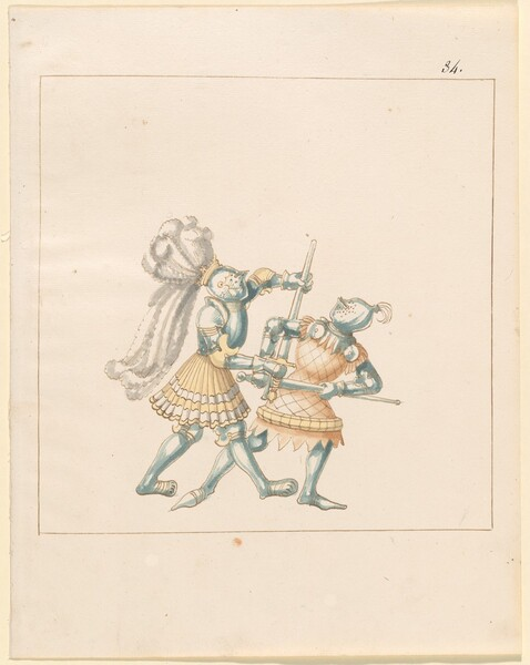 Freydal, The Book of Jousts and Tournament of Emperor Maximilian I: Combats on Foot (Jousts)(Volume III): Plate 164