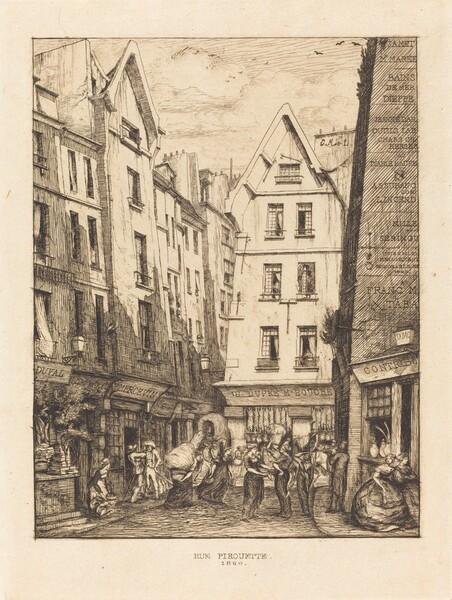 La Rue Pirouette aux halles, Paris (Pirouette Street, Near the Markets, Paris)