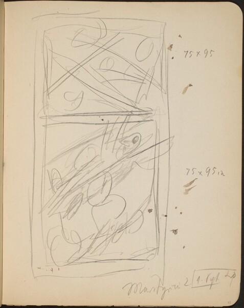 Hochrechteckige bezeichnete Skizze (Sketch with Inscription) [p. 33]