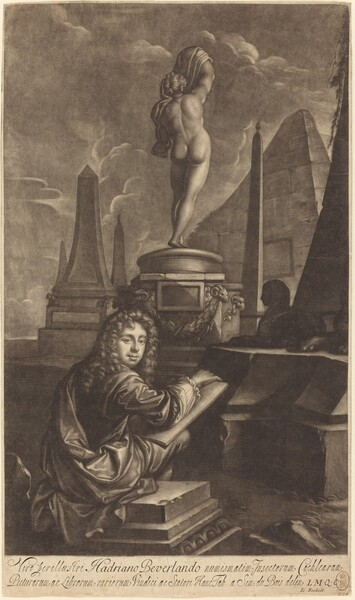 Adrian Beverland Drawing from a Statue