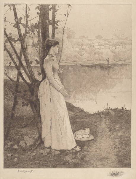 Untitled (Lady by a Riverbank)