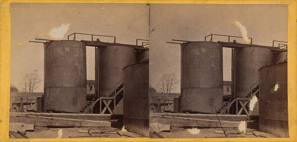 Crude Oil Tanks, Clark & Sumner, Standard Petroleum Refinery, Pittsburg, Pennsylvania