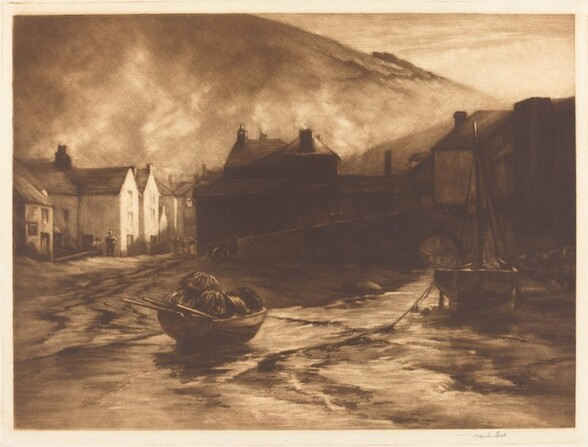 A Slant of Light in Polperro Harbour, No. 1