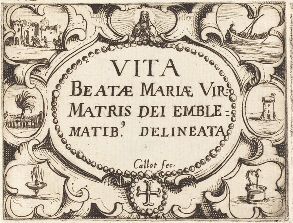 Title Page for The Life of the Virgin in Emblems