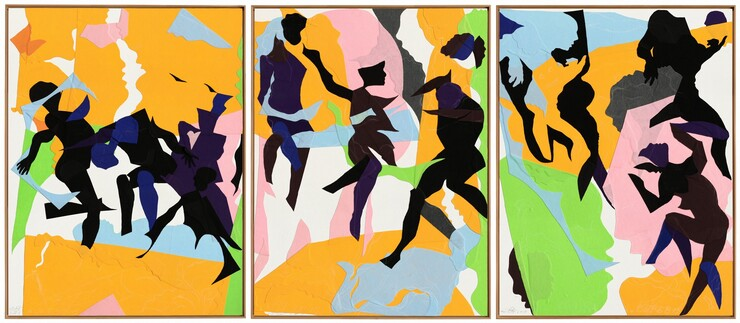 Oliver Lee Jackson, Triptych (3.20.15, 5.21.15, 6.8.15), 2015