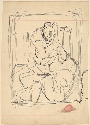 Woman Seated in Armchair