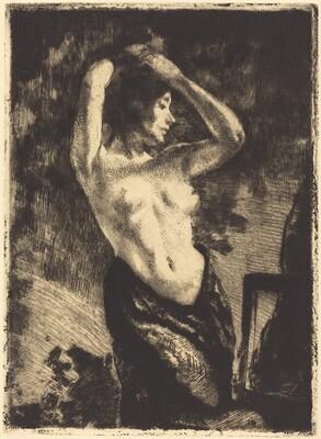 Nude with Her Arms Raised (Le modèle nue les bras levés)