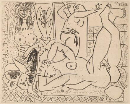 Variation on Delacroix's Women of Algiers: IV