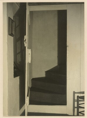 Doylestown House--Stairway with Chair