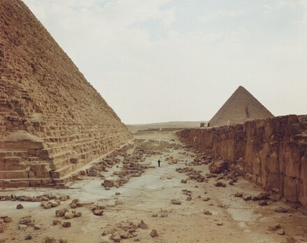 White Man Contemplating Pyramids, Egypt