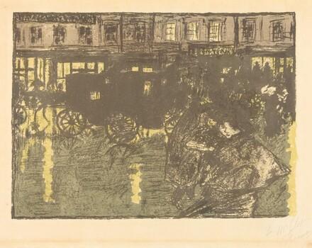 The Street at Night in the Rain (Rue, le soir, sous la pluie)