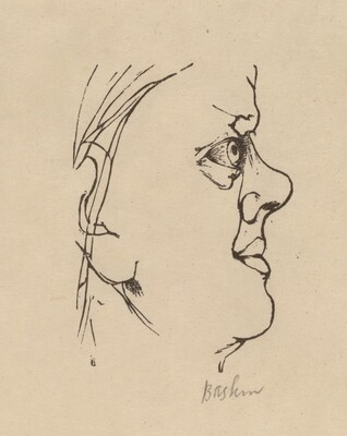 Blake, after His Visionary Self-Portrait
