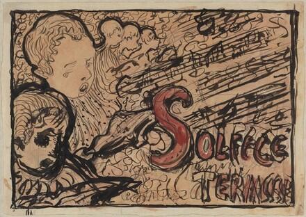 Study for cover of Petit solfège illustré