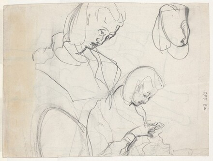 Studies of a Woman's Head [verso]