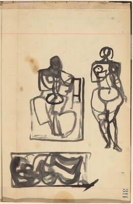 Three Figure Studies [recto]