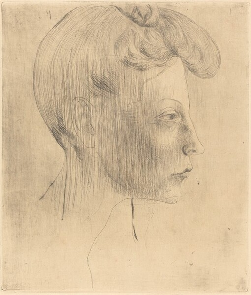 Head of a Woman in Profile (Tête de Femme de Profil)
