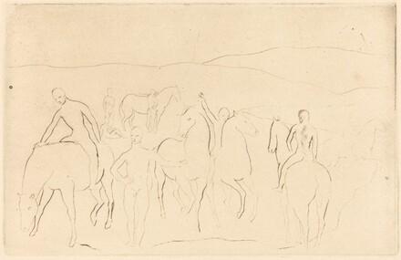 The Watering Place (Horses Bathing) [L'Abreuvoir (Chevaux au bain)]