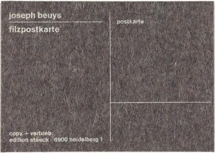 Filzpostkarte