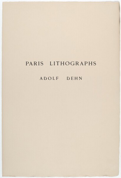 Paris Lithographs