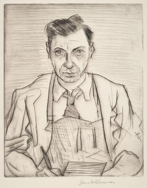 Self-Portrait with Drypoint Needle