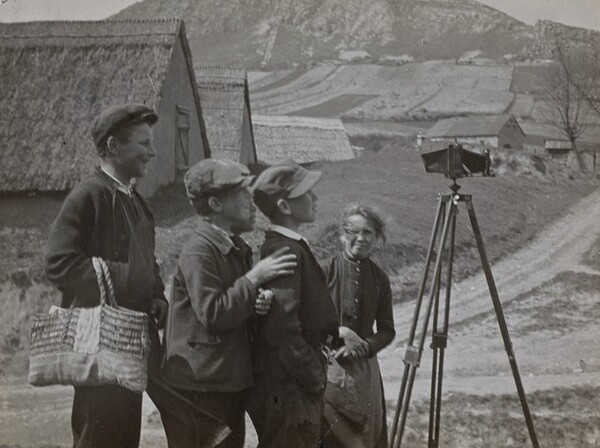 Children Admiring Camera, Budafok, Hungary