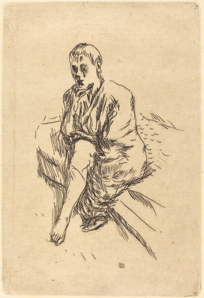 Seated Woman with Her Chin in Her Hand