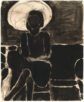 Seated Woman with Umbrella