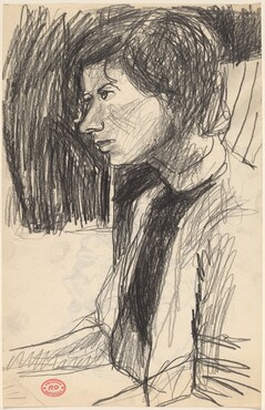 Untitled [woman facing left] [recto]
