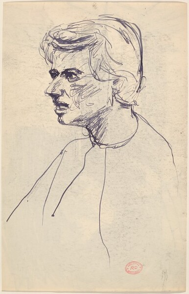 Untitled [woman facing left] [verso]