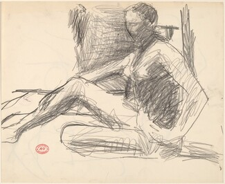 Untitled [study of seated female nude]