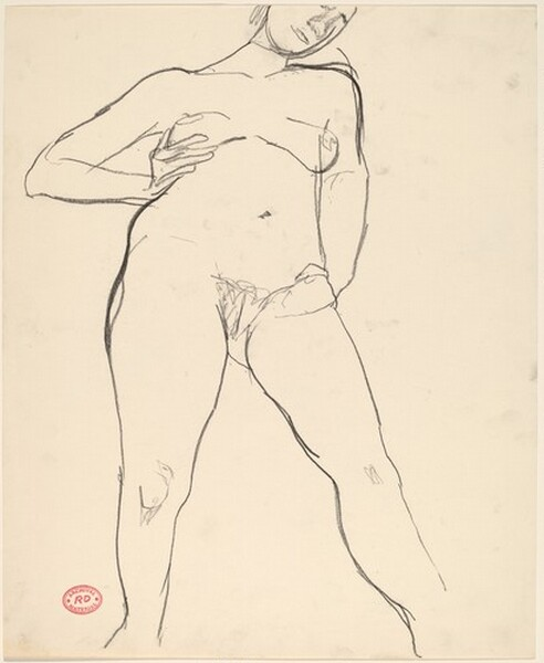 Untitled [standing nude with her right arm akimbo]