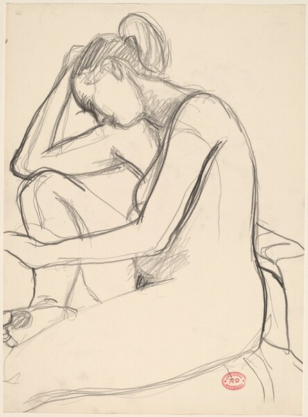 Untitled [female nude with bowed head]