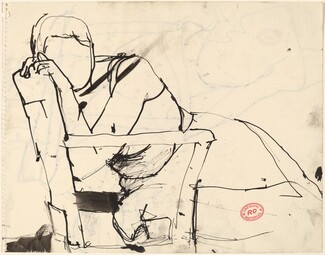 Untitled [woman slumped in a chair]