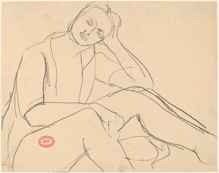 Untitled [seated woman leaning her head on her left hand]