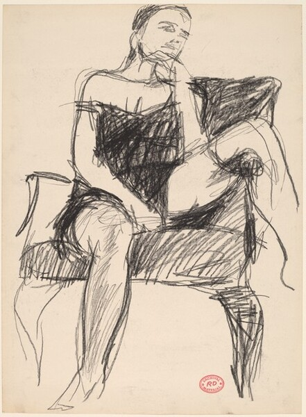 Untitled [woman seated in armchair]