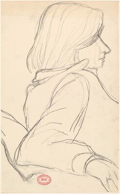 Untitled [study of a woman facing right]