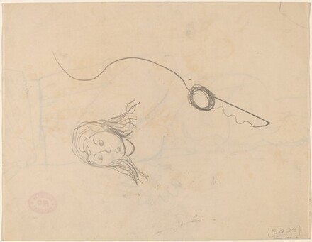 Untitled [head of a young woman] [verso]