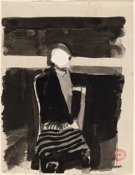 Untitled [reclining figure with cigarette and ash tray]