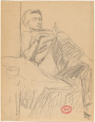 Untitled [seated figure]