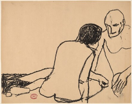 Untitled [seated couple]