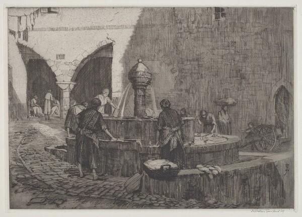 The Fountain at Peille, Cote d'Azur