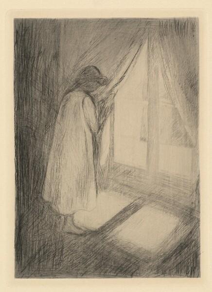Girl at Window (Madchen im Hemd am Fenster)