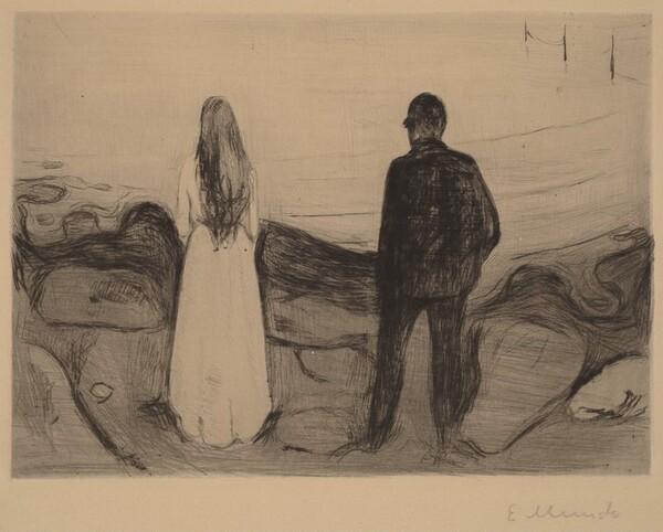 Lovers at the Seaside (Liebespaar am Strande)
