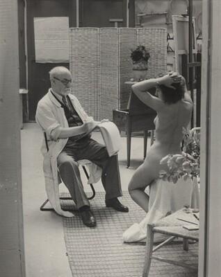 Matisse and His Model at the Villa d'Alésia, Paris