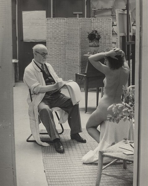 Matisse and His Model at the Villa d'Alésia, Paris