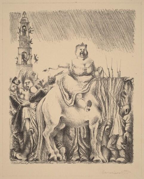 Woman on White Horse