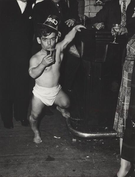 Shorty, the Bowery Cherub, New Year's Eve at Sammy's Bar