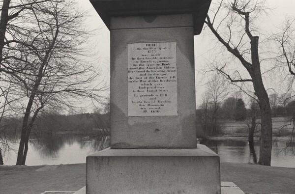 Base of the Concord Monument Obelisk. North Bridge Battleground, Concord, Massachusetts