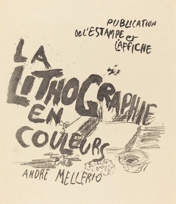 Cover for André Mellerio's La Lithographie en Couleurs